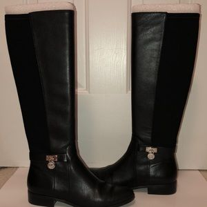 Michael Kors black knee -high boots.